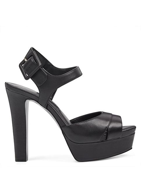 Nine West Platform Topuklu Sandalet Siyah
